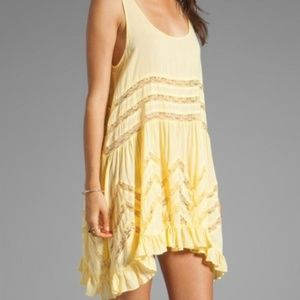 Yellow free people trapeze dress